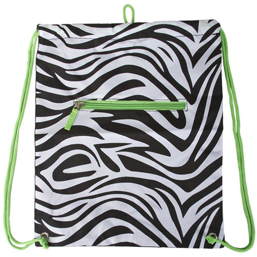 Zebra Drawstring Backpack - jenzys.com