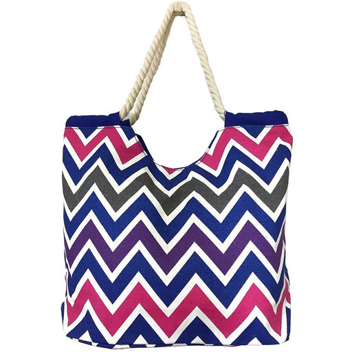 Chevron Rope Tote Bag - jenzys.com