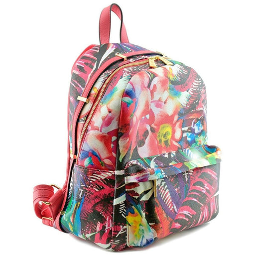 Tropical Floral Fashion Backpack - jenzys.com
