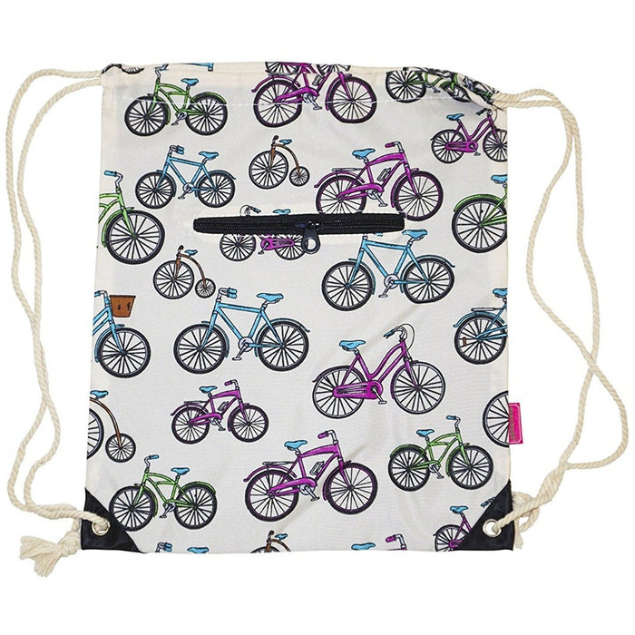 Ever Moda Bicycle Drawstring Backpack - jenzys.com