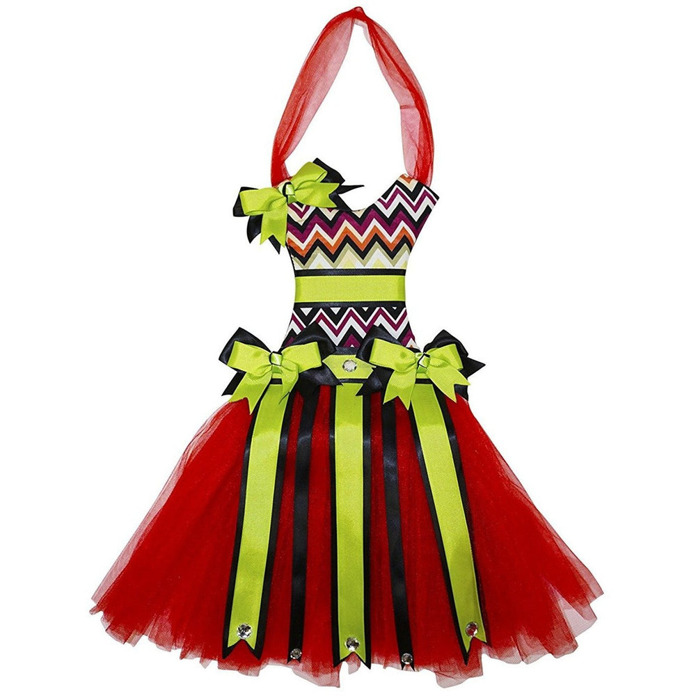 Chevron Tutu Dress Hair Bow Holder - jenzys.com