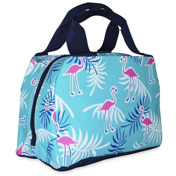 Ever Moda Tropical Flamingo Lunch Tote Bag - jenzys.com