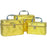Gold Feather Cosmetic Train Cases (Set of 3) - jenzys.com