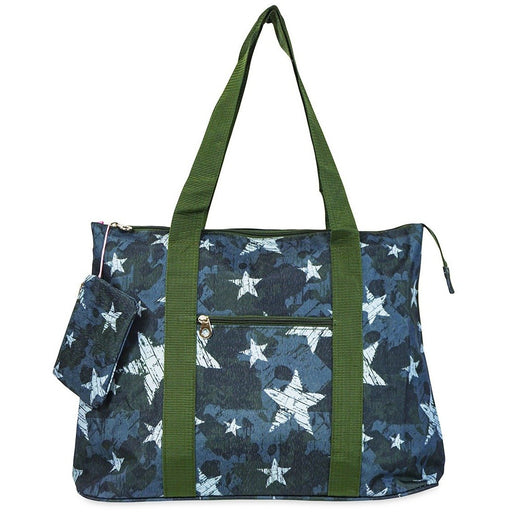 Jenzys Star Camo Shopping Tote Bag