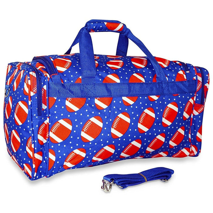 Ever Moda Football Print Duffel Bag - jenzys.com