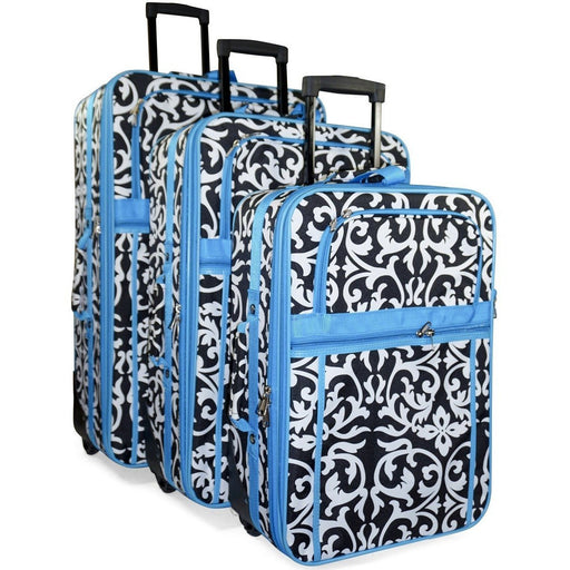 Damask Luggage Set - jenzys.com