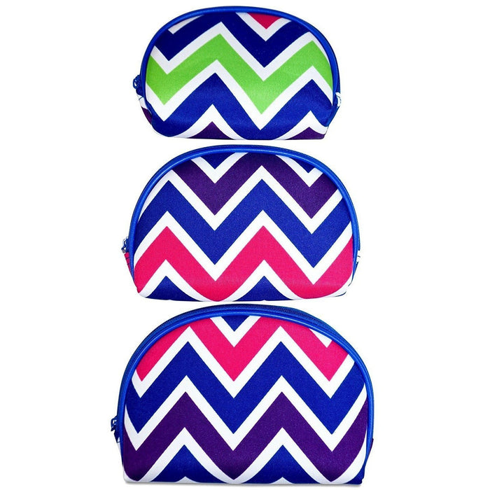 Chevron 3 Piece Makeup Bag Set - jenzys.com