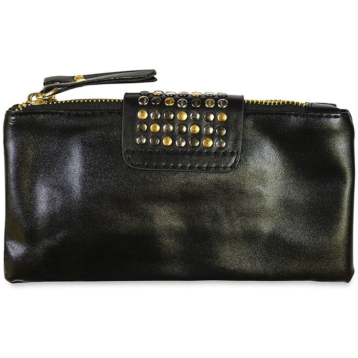 Riveted Wallet with Wristlet