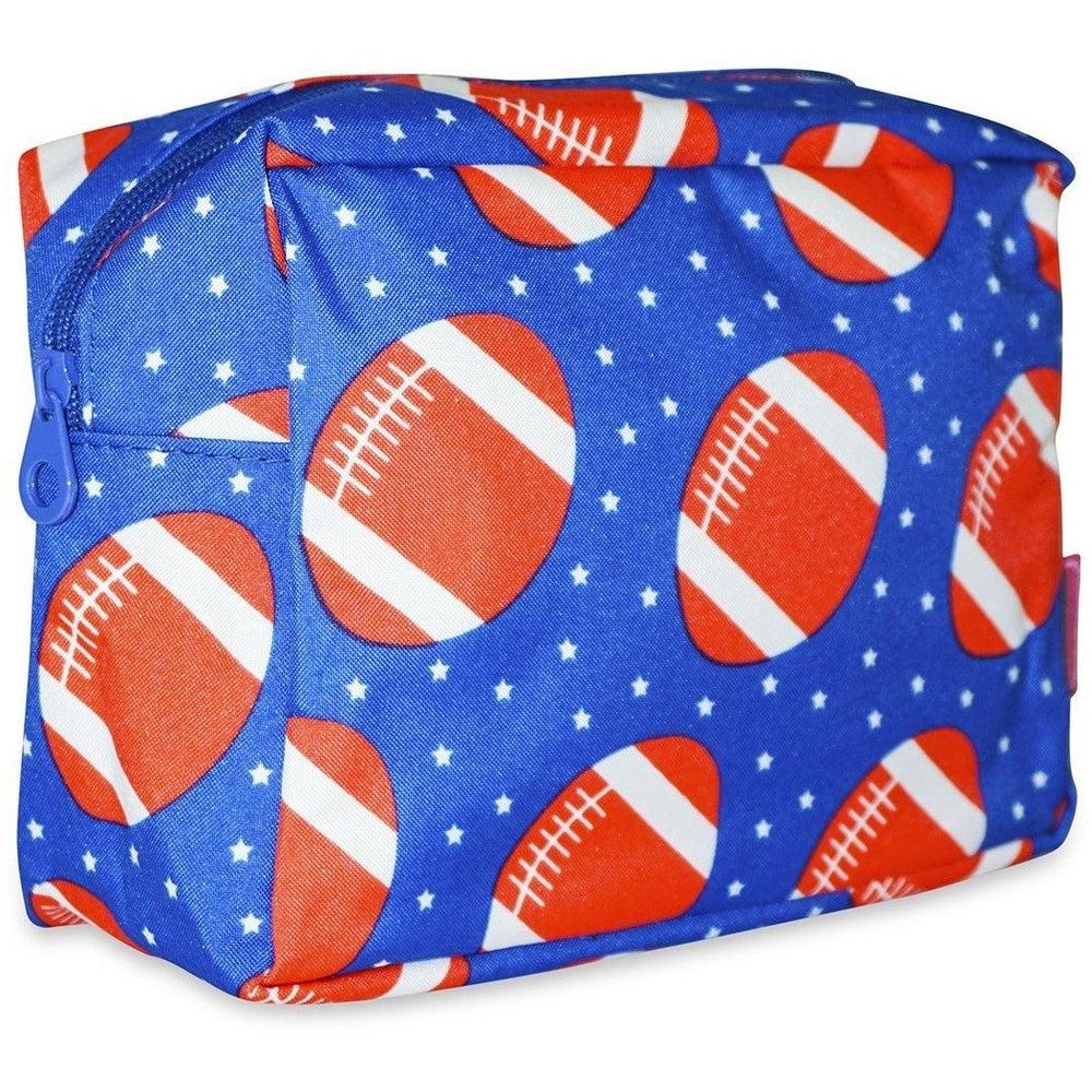 Ever Moda Football Print Cosmetic Pouch - jenzys.com