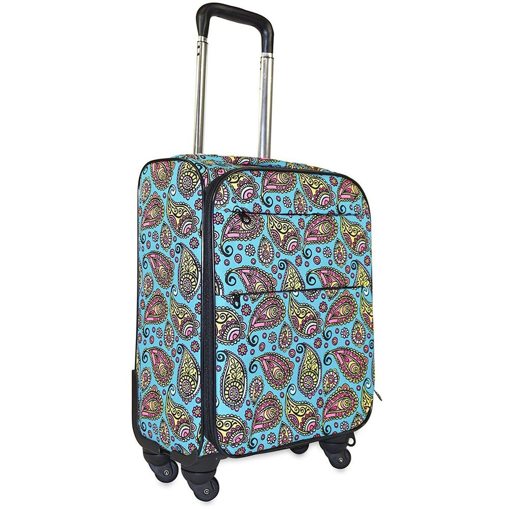 Ever Moda Paisley 360 Spinner Carry On - jenzys.com