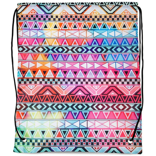 Tribal Aztec Drawstring Backpack - jenzys.com