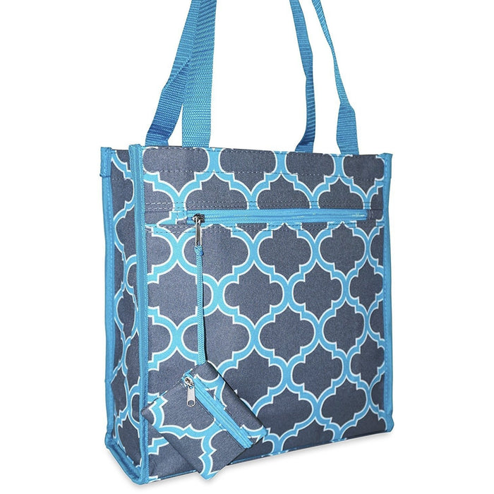 Ever Moda Quatrefoil Tote Bag