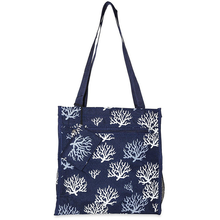 Ever Moda Sea Coral Tote Bag - jenzys.com