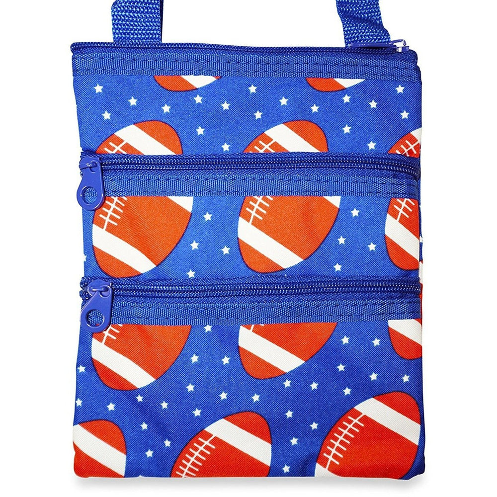 Ever Moda Football Print Cross-body Bag - jenzys.com
