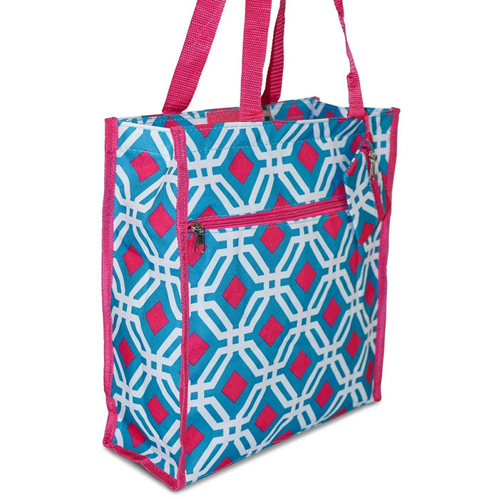 Diamond Print Tote Bag