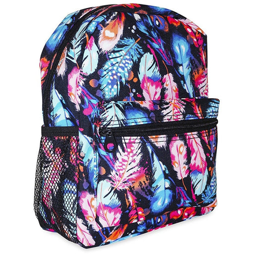 Ever Moda Peacock Feather Toddler Backpack - jenzys.com