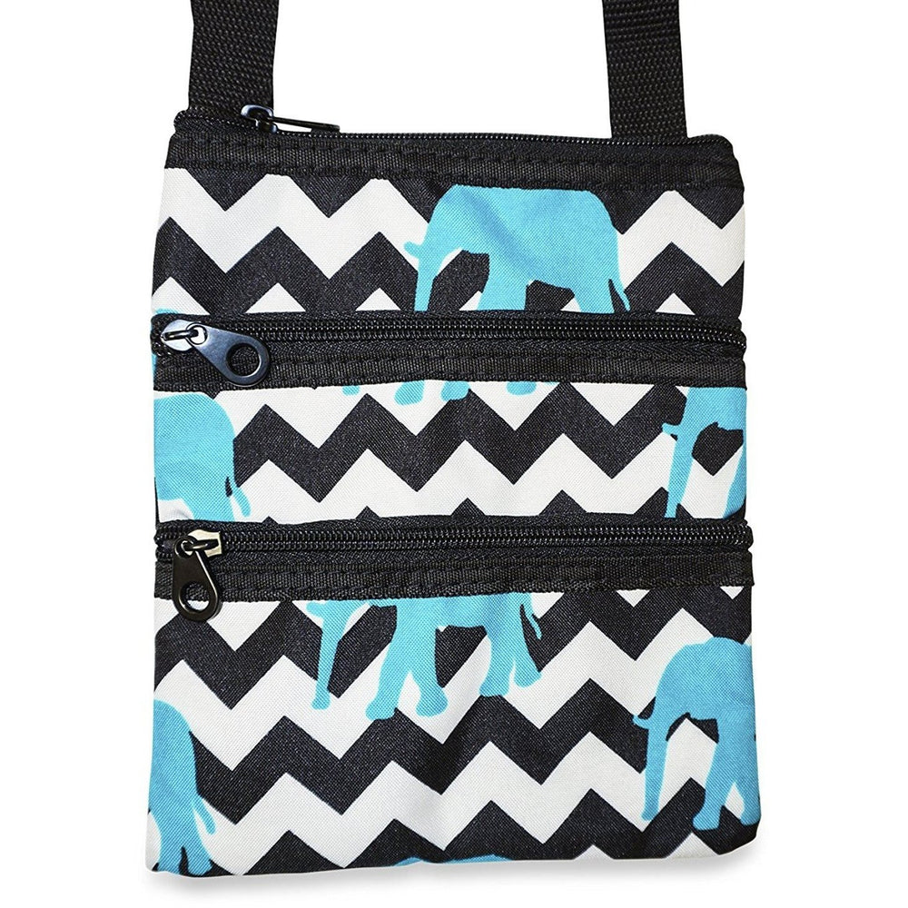 Ever Moda Elephant Chevron Cross-body Bag - jenzys.com