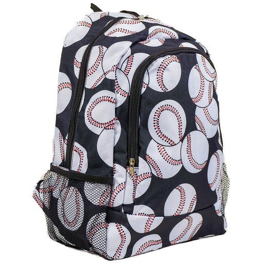 Baseball Print Backpack - jenzys.com