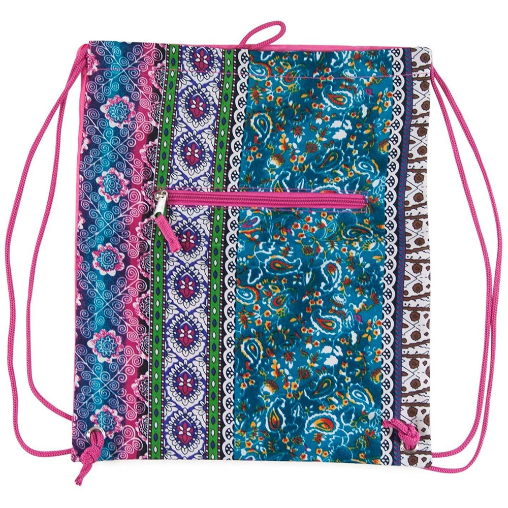 Boho Drawstring Backpack - jenzys.com