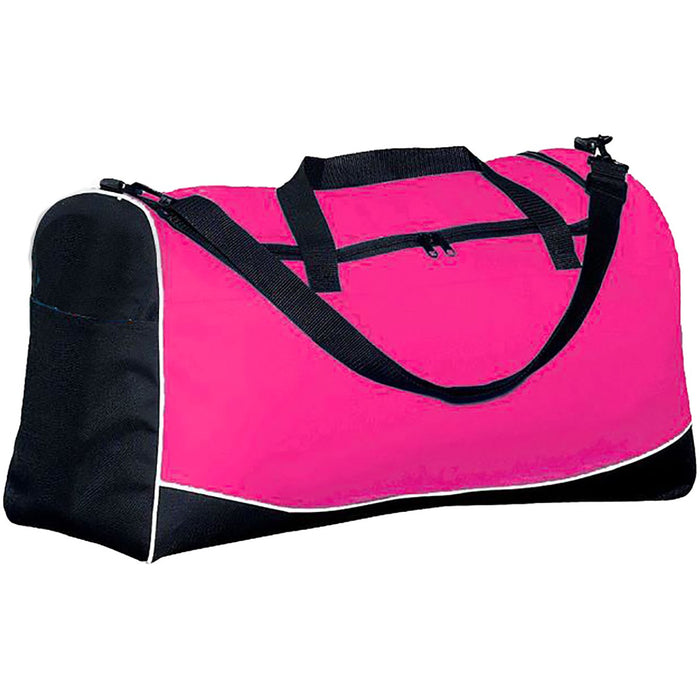 Augusta Large Tri-Color Sport Bag - Pink Black - jenzys.com