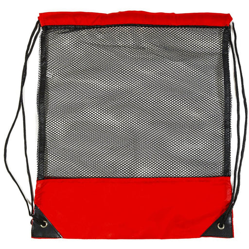 Drawstring Backpack Red Black