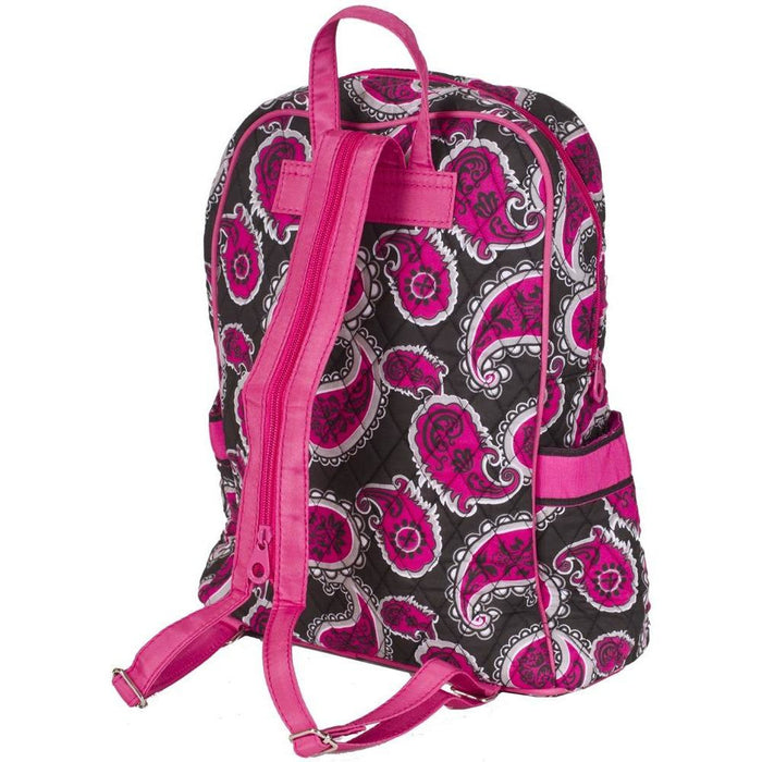Paisley Quilted Backpack - jenzys.com