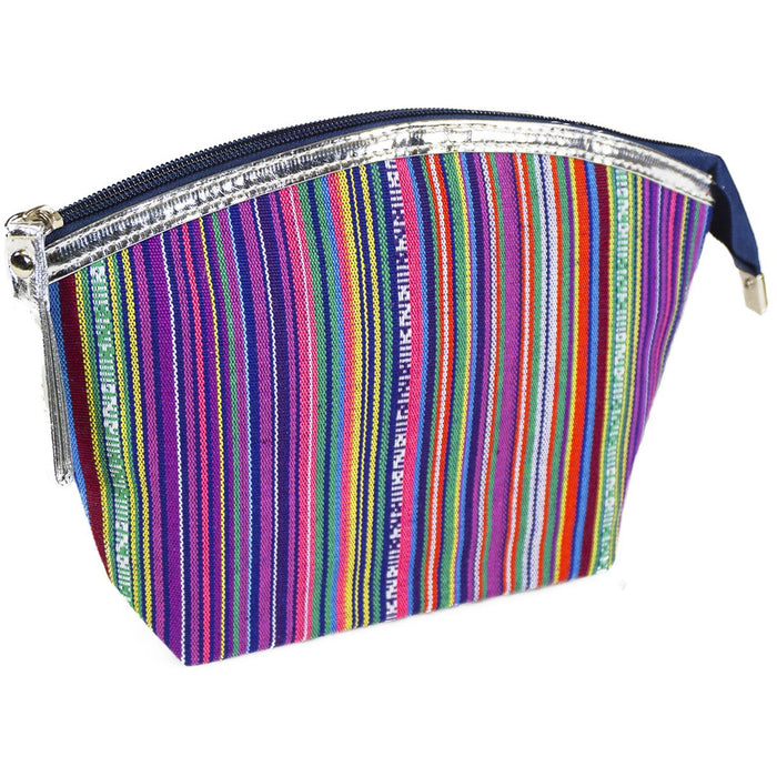Striped Cosmetic Makeup Bag