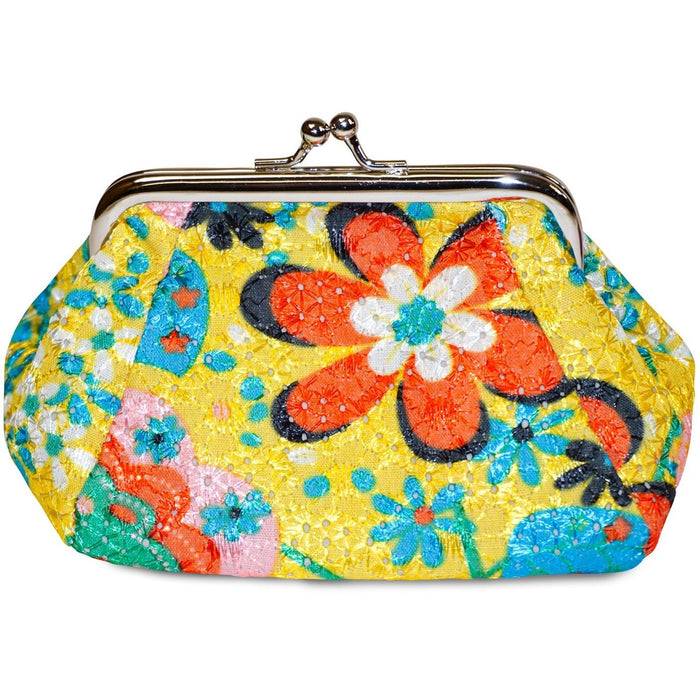 Kiss Lock Floral Coin Purse - jenzys.com