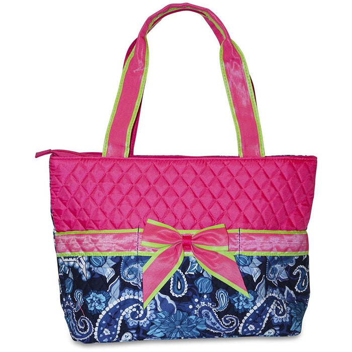 Rosenblue Paisley Quilted Diaper Bag