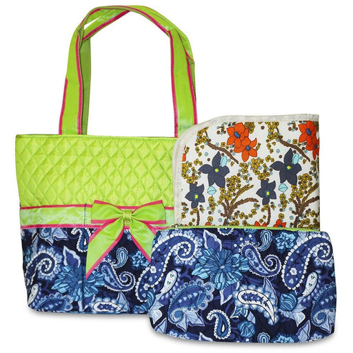 Rosenblue Paisley Quilted Diaper Bag - jenzys.com