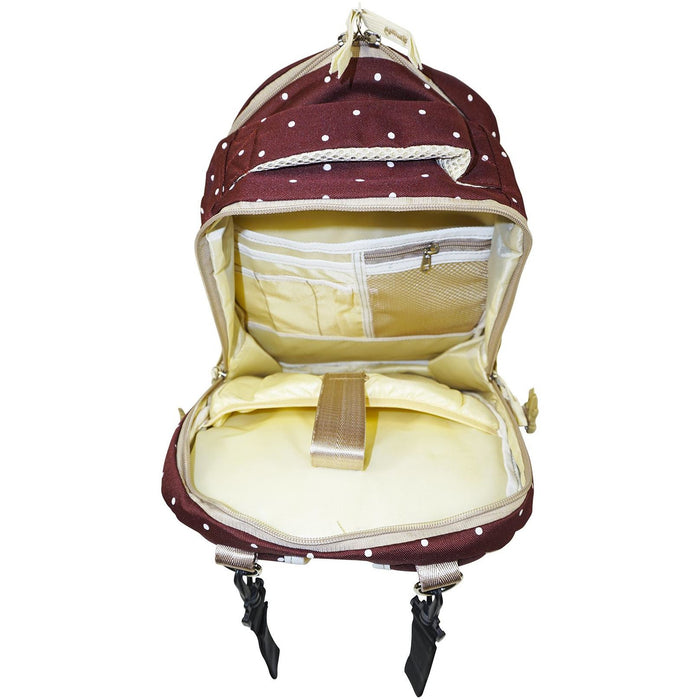 Polka Dot Backpack Diaper Bag - jenzys.com
