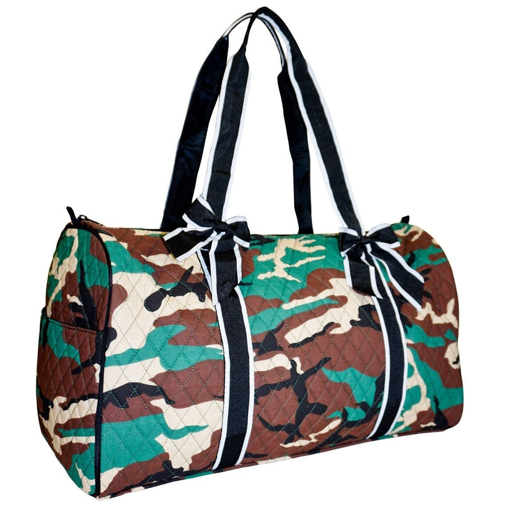 Ever Moda Camo Quilted Duffel Bag - jenzys.com