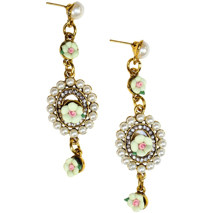 Vintage Floral Earrings - jenzys.com