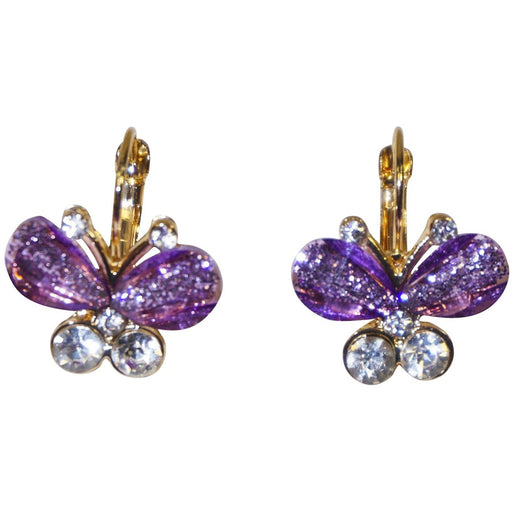 Crystal Butterfly Earrings - jenzys.com