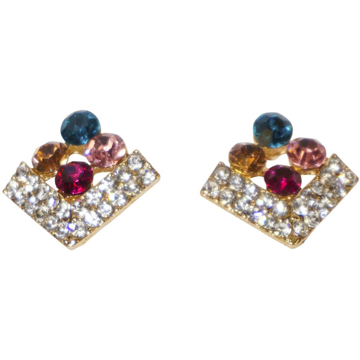 Colorful Rhinestone Earrings - jenzys.com