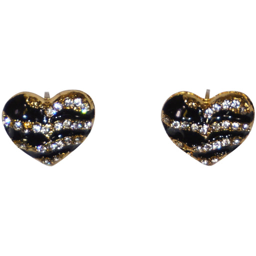 Black Heart Stud Earrings - jenzys.com