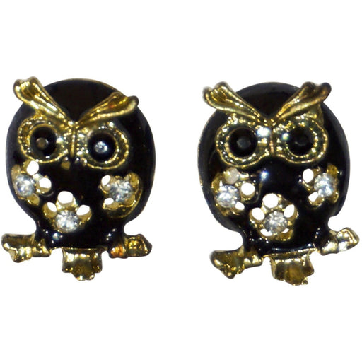 Black Owl Earrings - jenzys.com