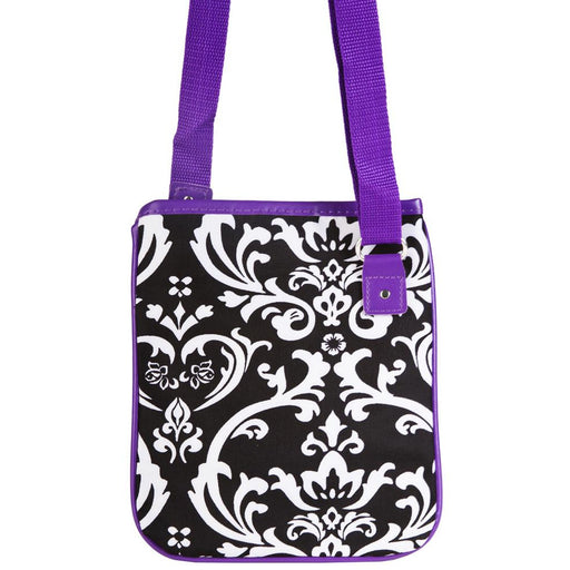Ever Moda Damask Print Crossbody Bag