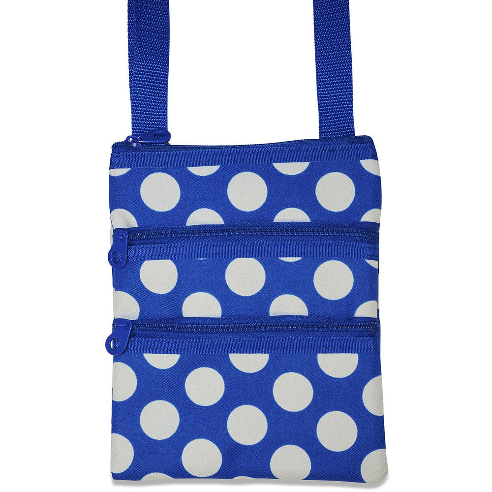 Ever Moda Polka Dot Print Crossbody Bag