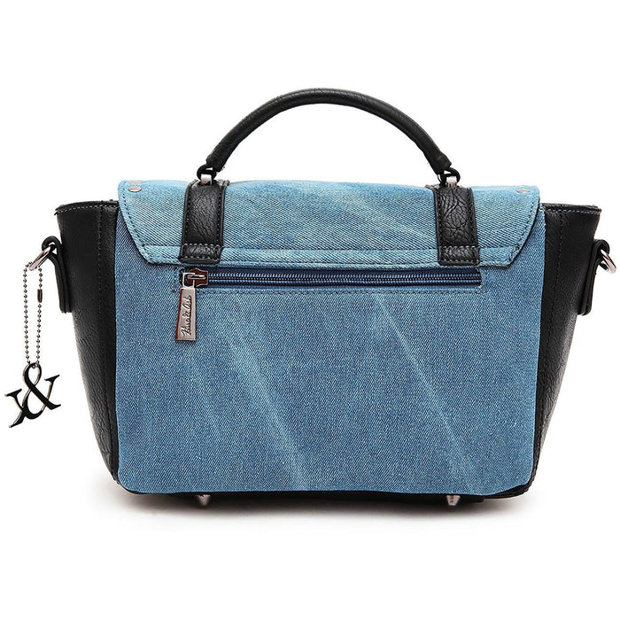 Hue & Ash Denim Shoulder Bag - jenzys.com