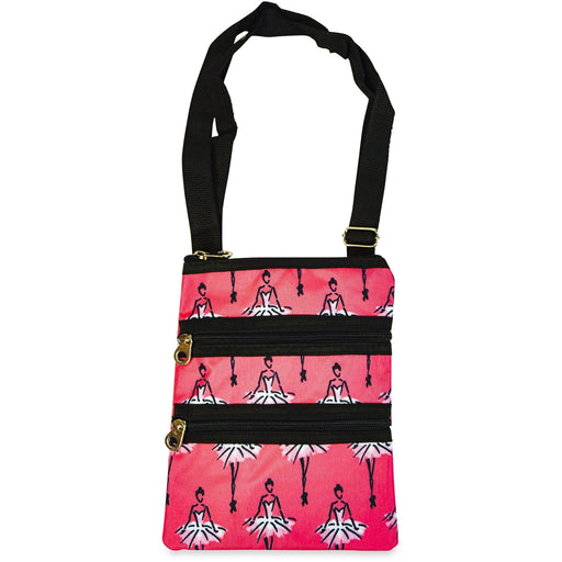 Jenzys Ballerina Print Cross Body Bag - jenzys.com