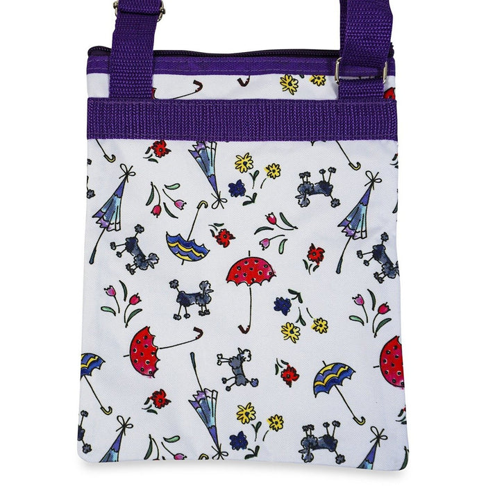 Jenzys Poodles and Umbrellas Cross Body Bag - jenzys.com