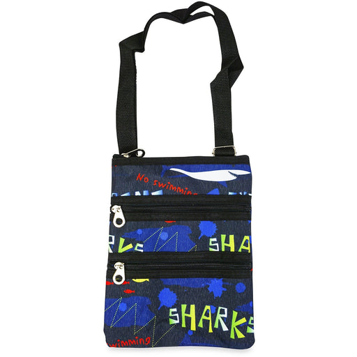 Jenzys Sharks Print Cross Body Bag - jenzys.com