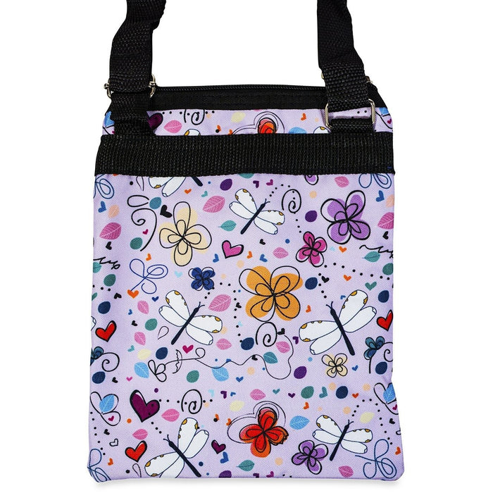 Jenzys Butterflies and Dragonflies Print Cross Body Bag - jenzys.com