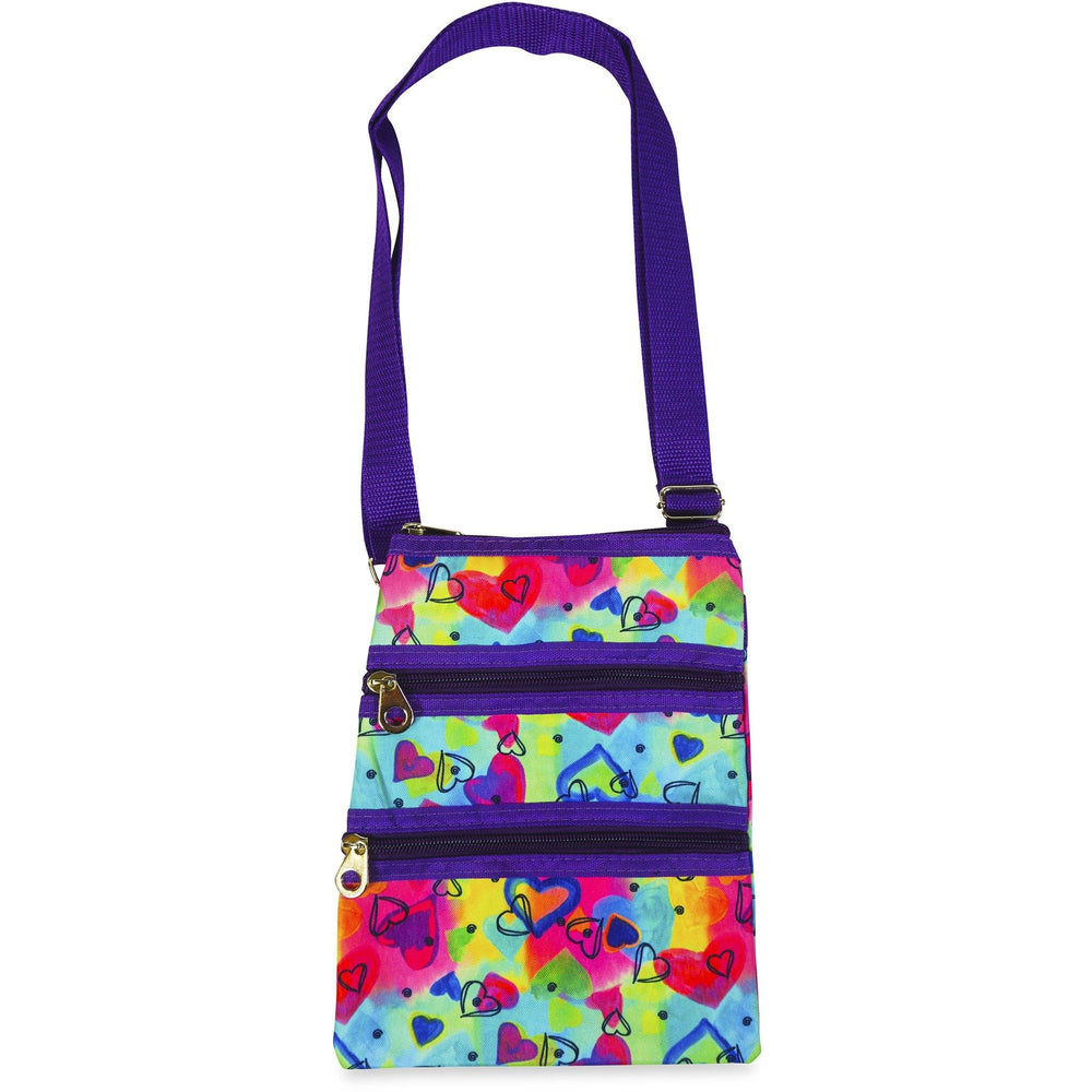 Jenzys Rainbow Hearts Cross Body Bag - jenzys.com