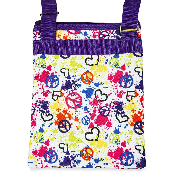 Jenzys Peace Sign Love Cross Body Bag - jenzys.com