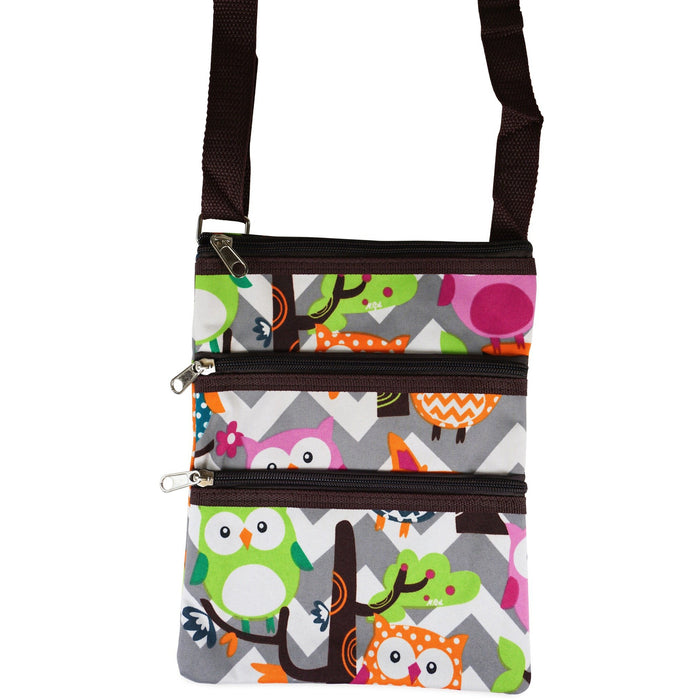 NGIL Owl Chevron Cross-body Bags - jenzys.com