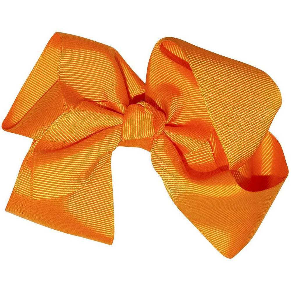 Solid Orange Hair Bow - jenzys.com