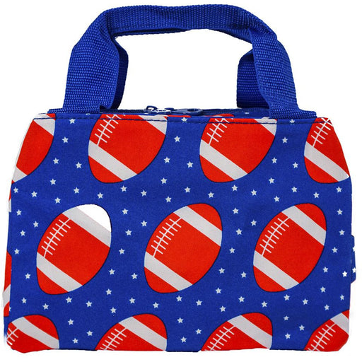 Football Theme Insulated Lunch Tote Bag
