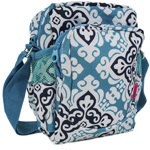 Ever Moda Cross Print Crossbody Daypack Bag